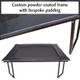 Custom powder-coated trampoline frame