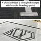 Bespoke branding on a 2-string bed