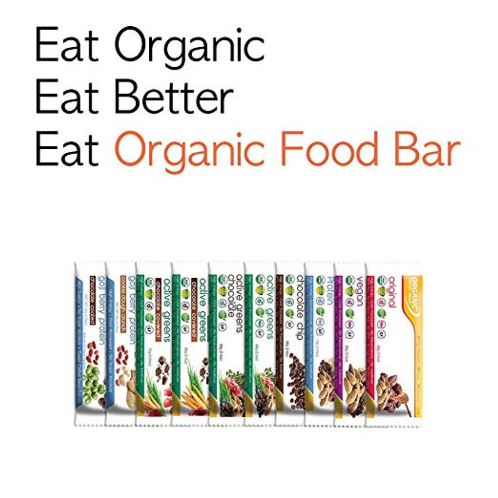 Organic Food Bar - Active Greens Chocolate - Box of 12