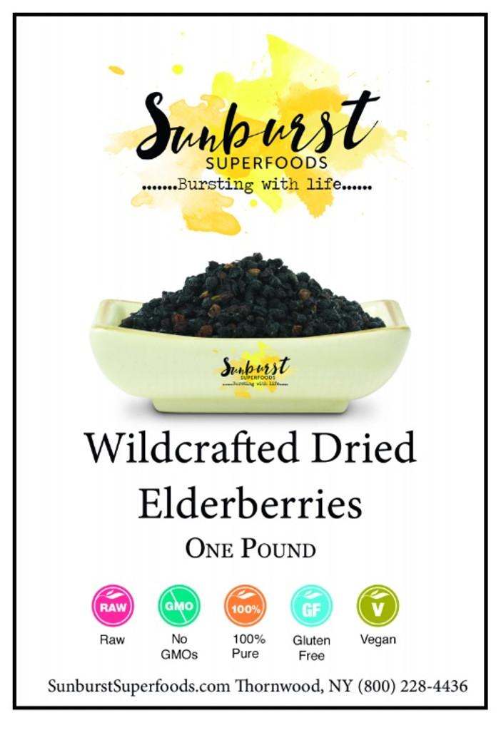 Dried Elderberries (Wildcrafted)