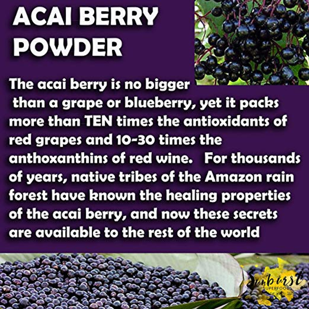 Organic Acai Berry Powder (Freeze-Dried)