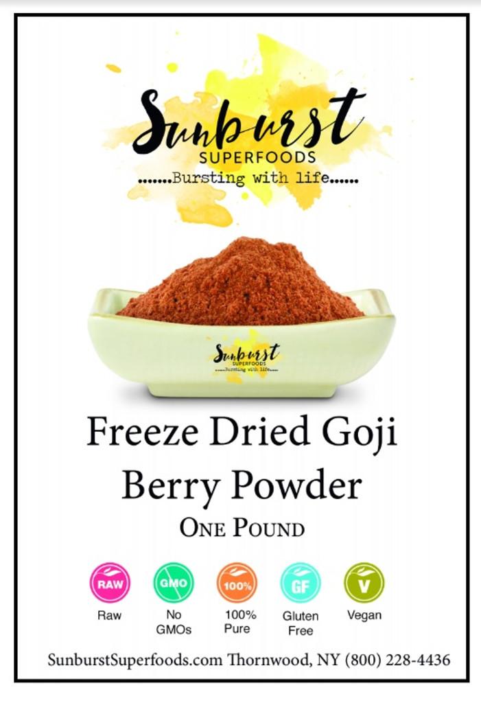 Freeze Dried Goji Berry Powder Sunburst Superfoods