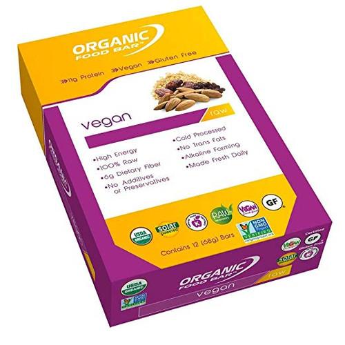 Organic Food Bar - Vegan - Box of 12