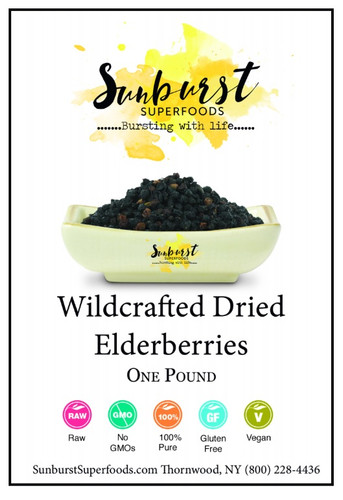 Wildcrafted Dried Elderberries