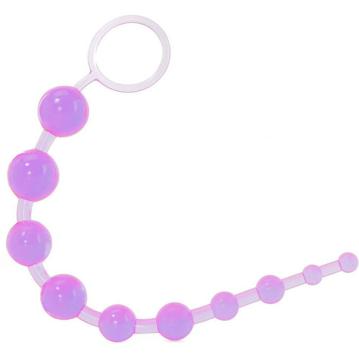 X-10 Anal Beads in Purple at Bed Time Toys