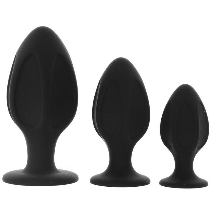 Master Series Triple Juicers Anal Trainer Set at Bed Time Toys