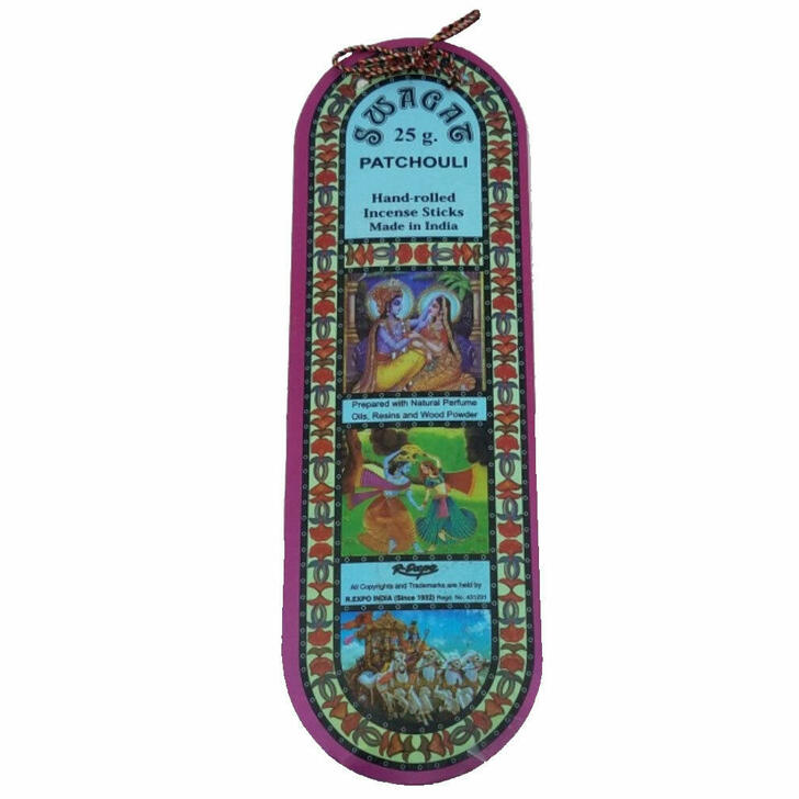 Swagat Incense in Patchouli 25g at Bed Time Toys