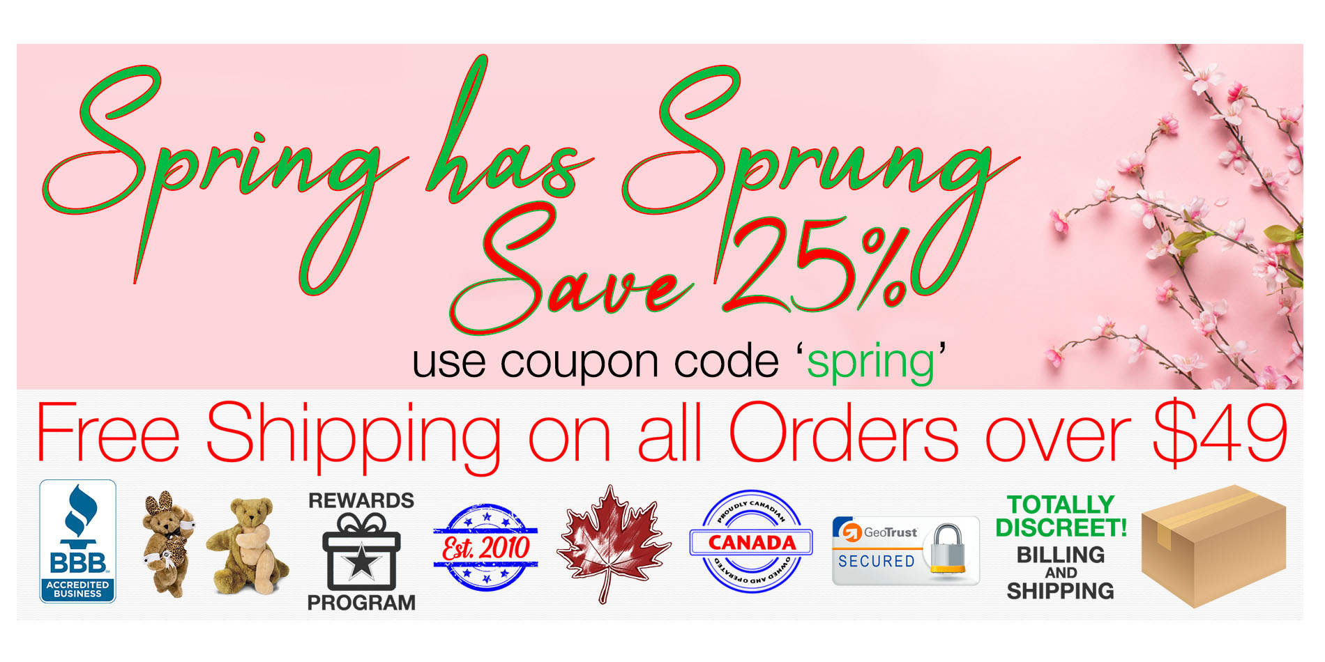 Bed Time Toys, Spring Sex Toy Sale, Sex Toys Canada