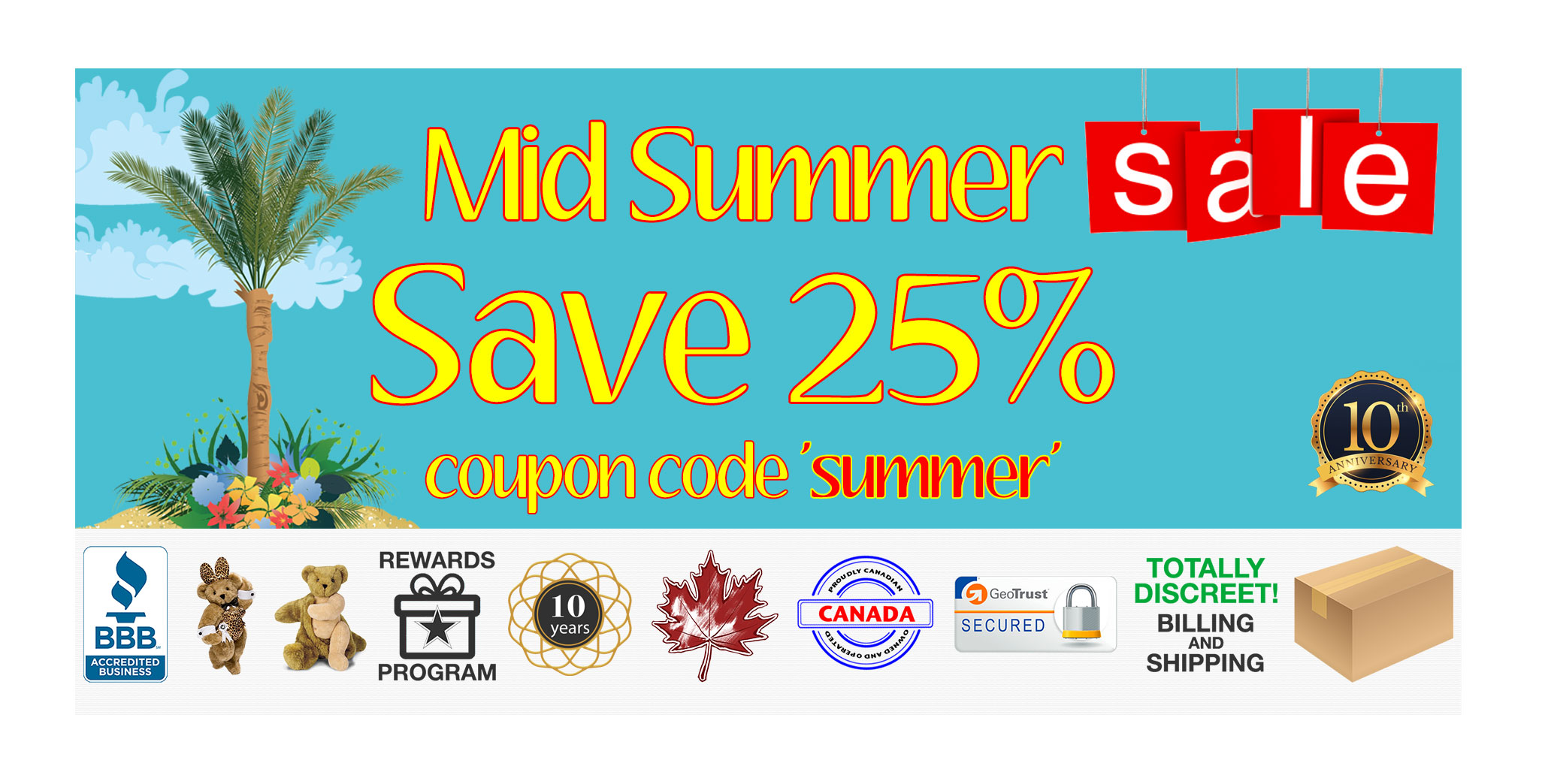 Bed Time Toys, Mid-Summer Sex Toy Sale, Sex Toys Canada