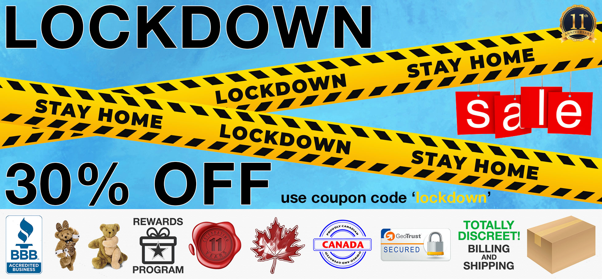 Bed Time Toys, Lockdown Sex Toy Sale, Sex Toys Canada