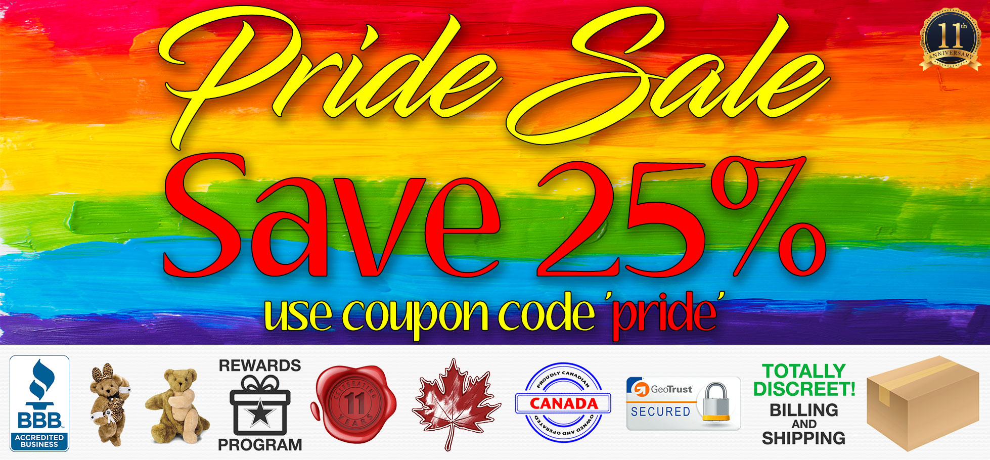 Bed Time Toys, Pride Sex Toy Sale, Sex Toys Canada