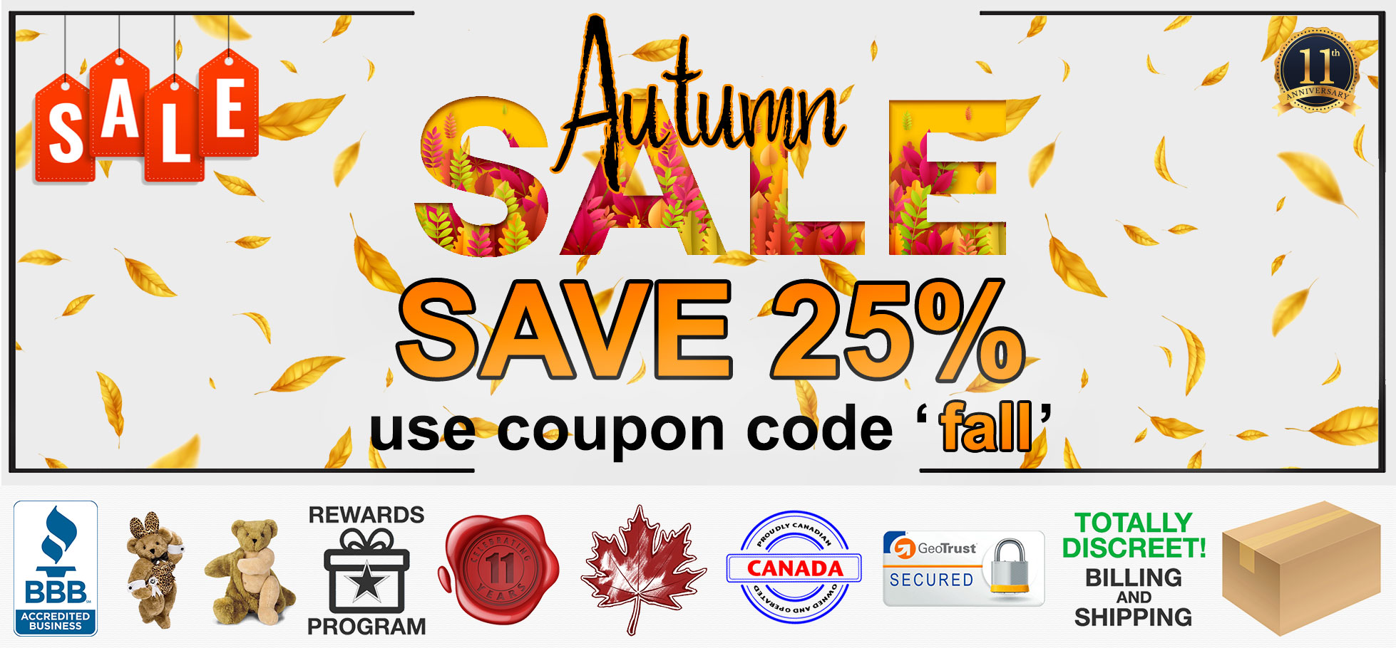Bed Time Toys, Autumn Sex Toy Sale, Sex Toys Canada