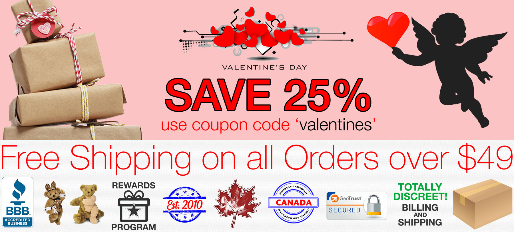 Bed Time Toys, Valentine's Day Sex Toy Sale, Sex Toys Canada
