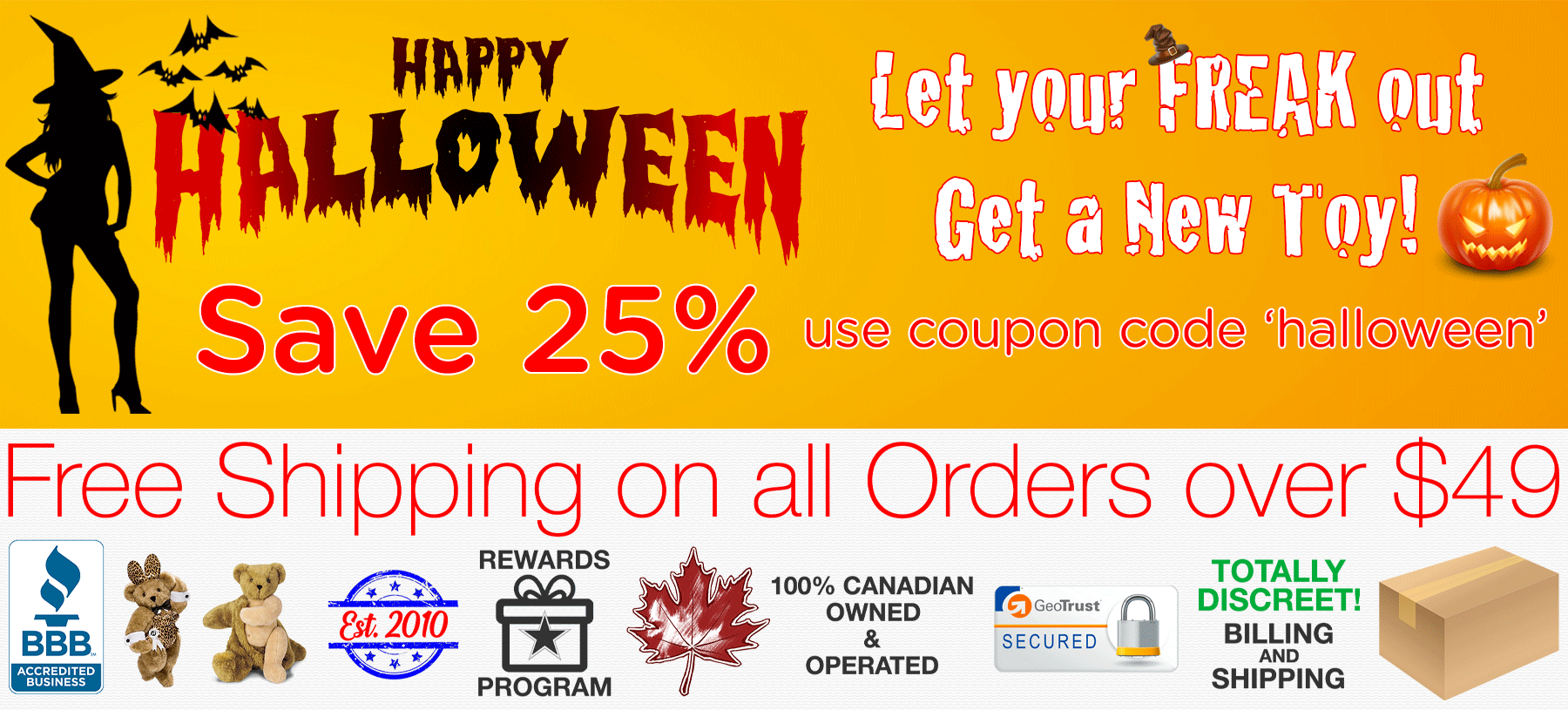 Bed Time Toys, Halloween Sex Toy Sale, Sex Toys Canada