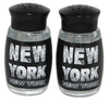 NYC Black & White Photo Letters Salt & Pepper Shakers