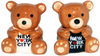 NYC Teddy Bear Salt & Pepper Shakers