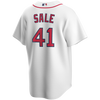 Chris Sale Jersey - Boston Red Sox Replica Adult Home Jersey - back