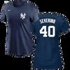 Luis Severino Ladies T-Shirt - Navy NY Yankees Womens T-Shirt