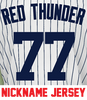 Red Thunder Jersey - Clint Frazier Yankees Adult Nickname Home Jersey