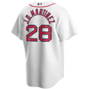 J.D. Martinez Jersey - Boston Red Sox Replica Adult Home Jersey - back