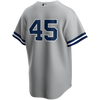 Gerrit Cole No Name Jersey - NY Yankees Majestic Adult Number Only Road Jersey - back