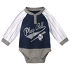 Yankees Baby Coverall - Navy & Pinstripe