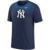 NY Yankees Nike Blue Ombre Adult T-Shirt
