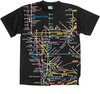 NYC Subway Map Black Kids Tee