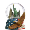 NYC Skyline with Eagle 100mm Musical Snowglobe - old image