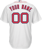Boston Red Sox Replica Personalized Youth Home Jersey - Back