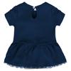 Yankees Baby Bib & Booties Creeper Dress - Back