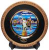 NYC Blue Skyline Black Gold Edged Souvenir Plate - 6 Inch
