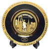 NYC Skyline Black Gold Edged Souvenir Plate - 6 Inch