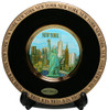 NY Skyline Gold Edged Plate - Chokin Art 6 Inch