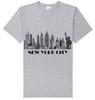 New York City Skyline T-shirt -Grey
