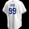 Hyun-Jin Ryu Youth Jersey - LA Dodgers Replica Kids Home Jersey - back