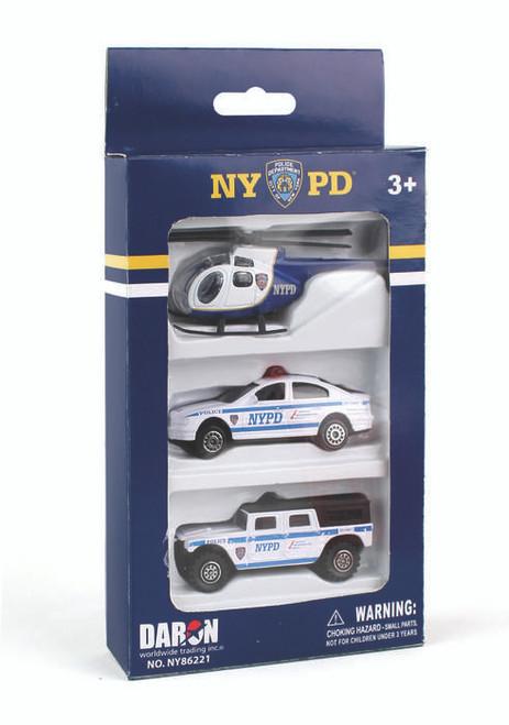 NYPD 3pc Vehicle Set