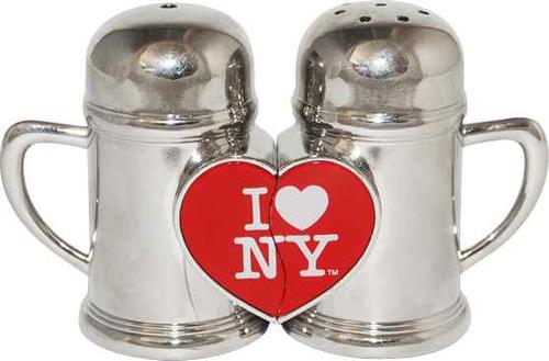 I Love NY Magnetic Salt & Pepper Shakers