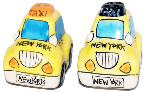 NYC Taxi Salt & Pepper Shaker Set