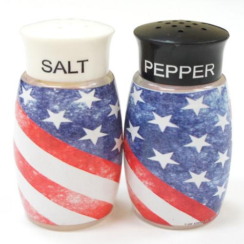USA Flag Salt & Pepper Shaker Set