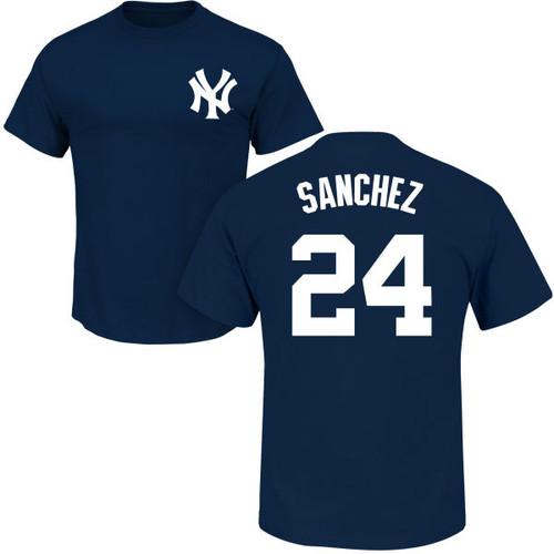 Gary Sanchez T-Shirt - Navy NY Yankees Adult T-Shirt