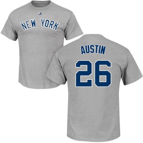 Tyler Austin T-Shirt - Grey NY Yankees Adult T-Shirt