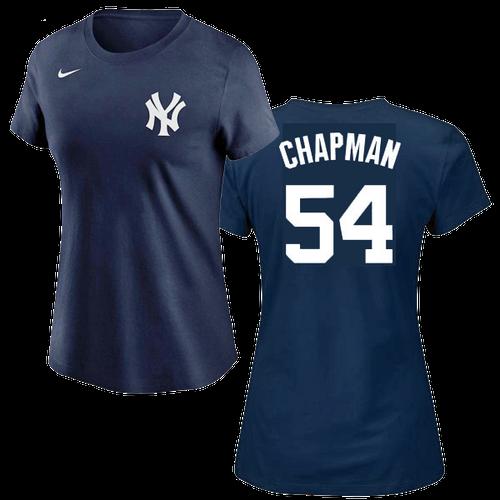 Aroldis Chapman Ladies T-Shirt - Navy NY Yankees Womens T-Shirt