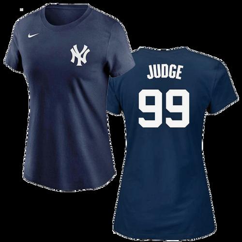 Aaron Judge Ladies T-Shirt - Navy NY Yankees Womens T-Shirt