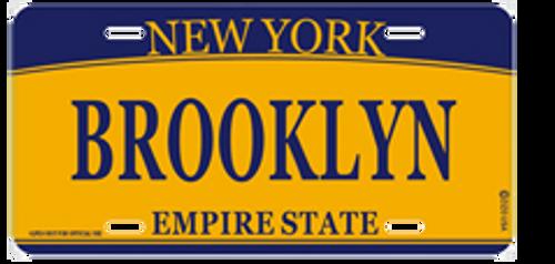 Brooklyn License Plate- Orange