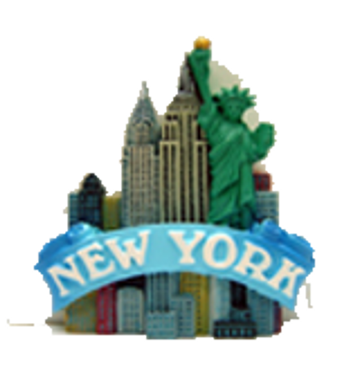 New York Colorful Buildings Magnet