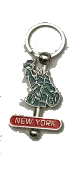New York Statue of Liberty Spinner Key Chain