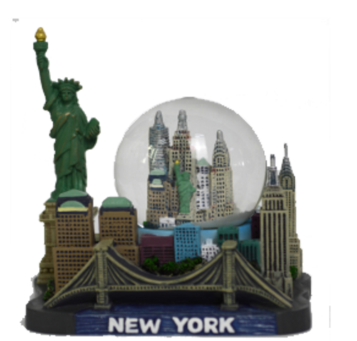 New York Statue of Liberty & Skyline 45mm Snow Globe