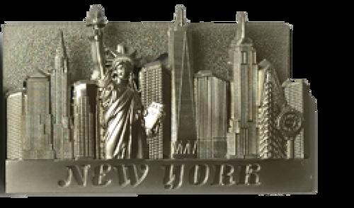 Metal Business Card Holder- Light Silver