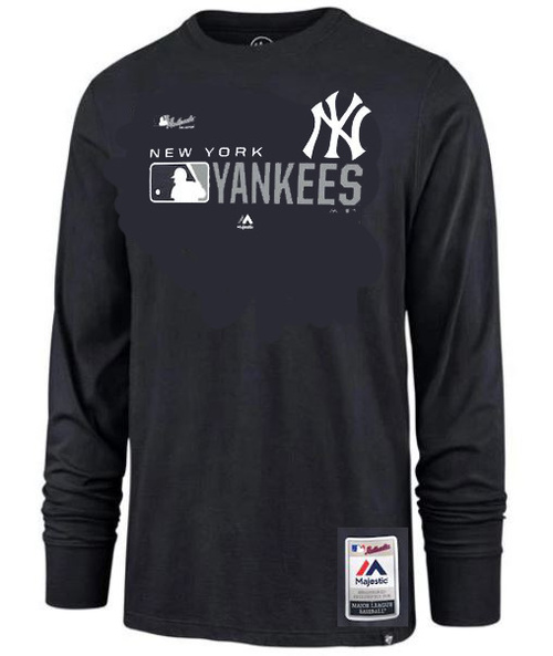 NY Yankees Navy Authentic Collection Long Sleeve T- Shirt